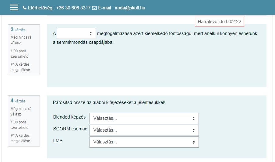 Moodle 3.10 új lehetőségek